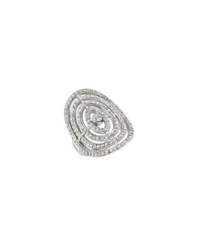 Diamond Bullseye Ring, Size 7