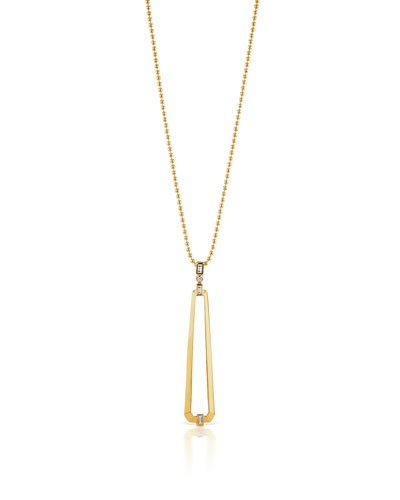 18k Trapezoid Pendant Necklace w/ Diamonds