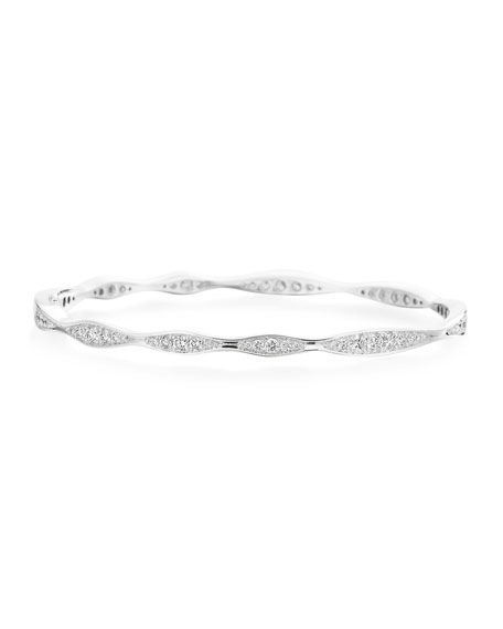 Maria Canale 18k White Gold All-Around Diamond Wave Bangle