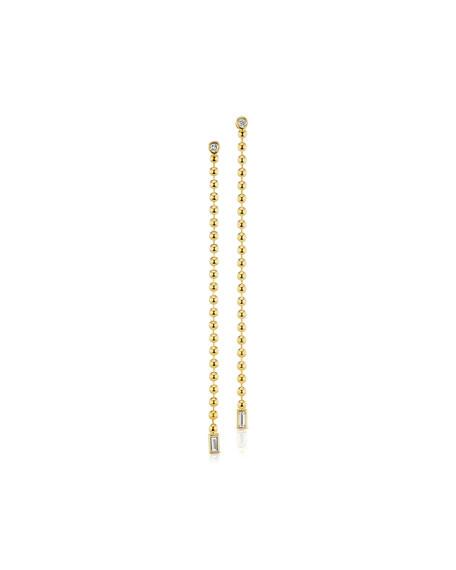 Maria Canale 18k Diamond & Bead Chain Earrings