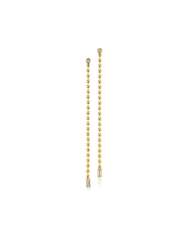 18k Diamond & Bead Chain Earrings