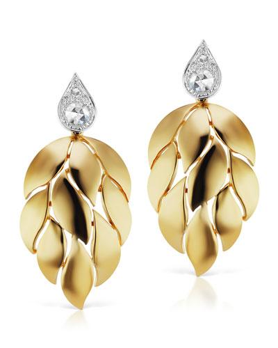 18k Diamond Petal-Drop Earrings