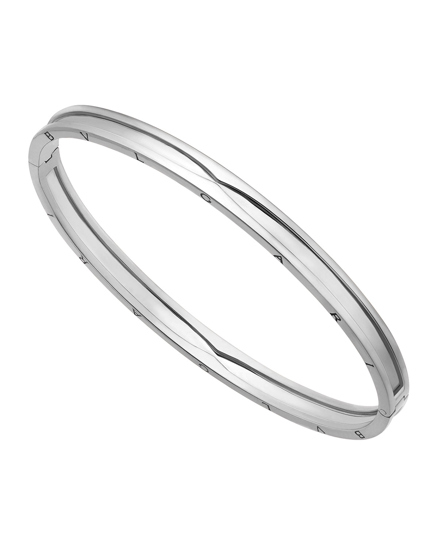 B.Zero1 18k White Gold Bangle Bracelet