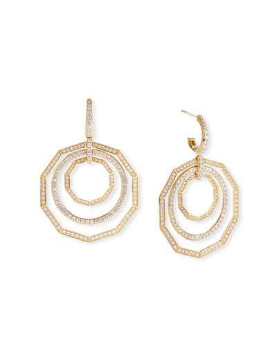 Stax 18k Yellow Gold Diamond Extra-Large Drop Earrings