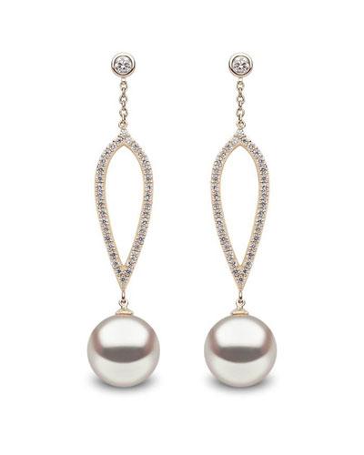 fe885c1ab Quick Look. Yoko London · 18k Pearl & Open Diamond Dangle Earrings