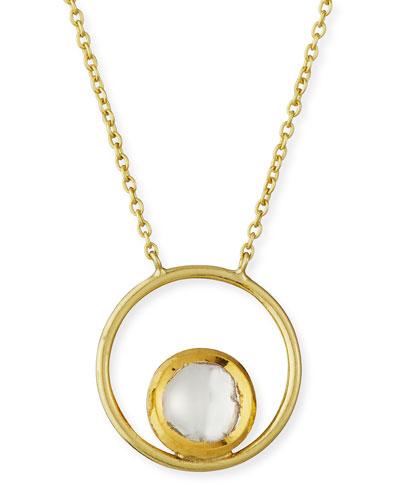 18k Kundan Vintage Diamond Circle Pendant Necklace