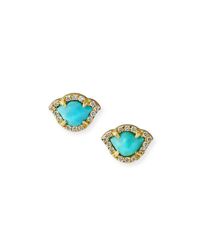 b2843e92d Quick Look. Legend Amrapali · 18k Kamalini Lotus Turquoise Stud Earrings ...