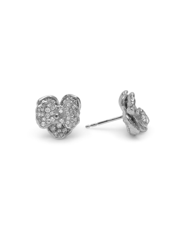 Orchid 11mm Diamond Stud Earrings