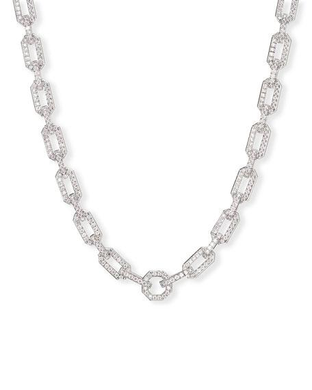 David Yurman Starburst Chain 18k White Gold Diamond Pave Necklace