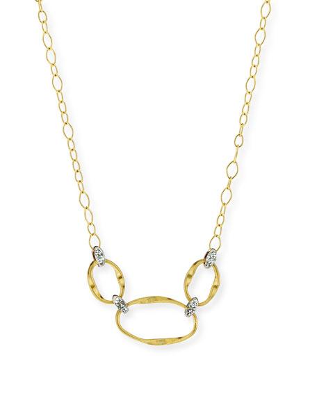 Marco Bicego Marrakech Onde 18k Diamond Half Necklace