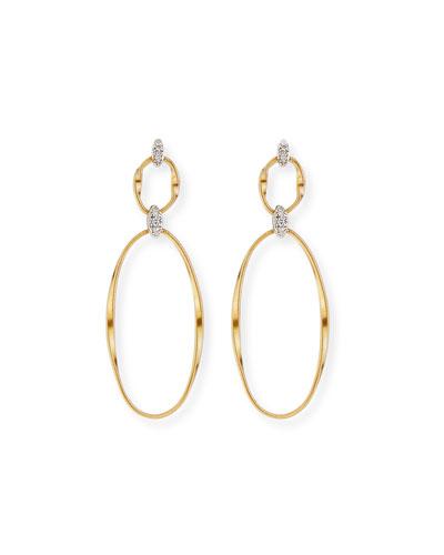 Marrakech 18k Diamond 2-Drop Earrings