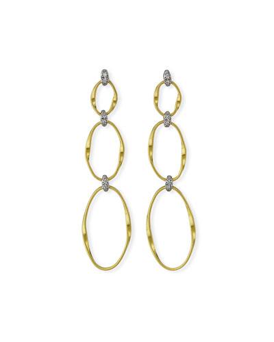 Marrakech 18k Diamond 3-Drop Earrings