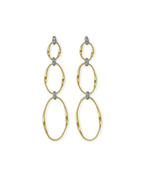 Marco Bicego Marrakech 18k Diamond 3-Drop Earrings