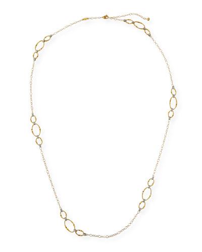 Marrakech 18k Diamond Oval-Link Necklace