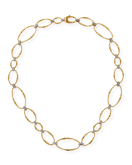 Marco Bicego Marrakech Onde 18k Diamond Collar Necklace