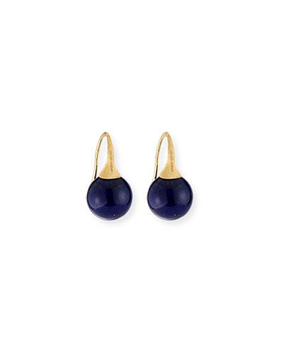 Africa 18k Lapis Earrings