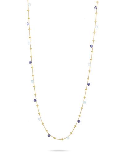 Paradise 18k Blue Topaz Long Necklace
