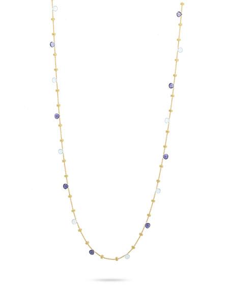 Marco Bicego Paradise 18k Blue Topaz Long Necklace