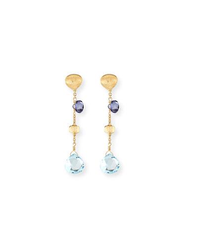 Paradise 18k Short Gemstone Drop Earrings