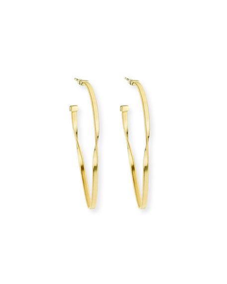 Marco Bicego 18k Gold Oval Hoop Earrings