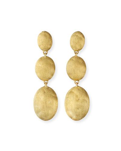 Siviglia 18k Large 3-Drop Earrings