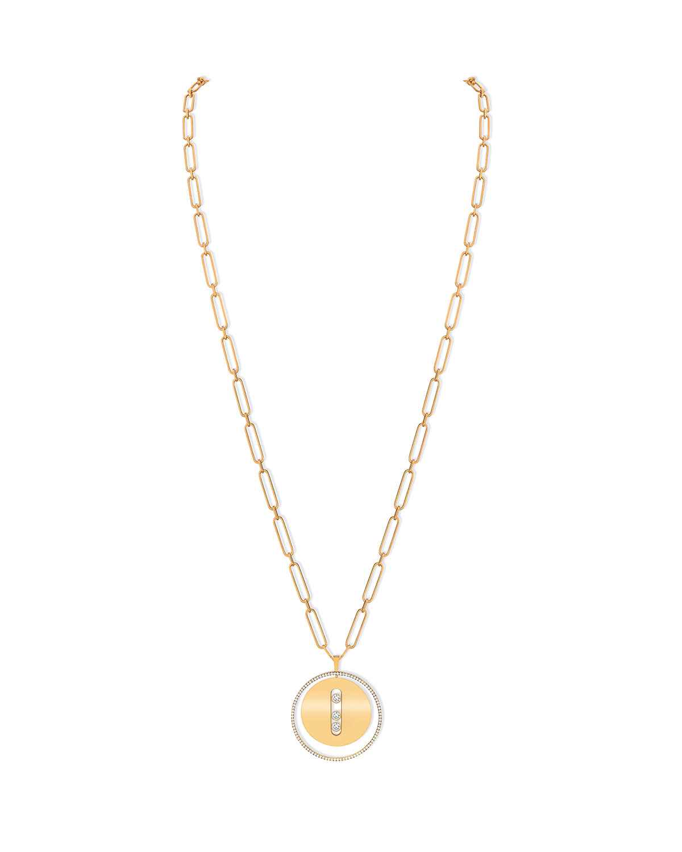LUCKY MOVE 18k Yellow Gold Diamond Pendant Necklace
