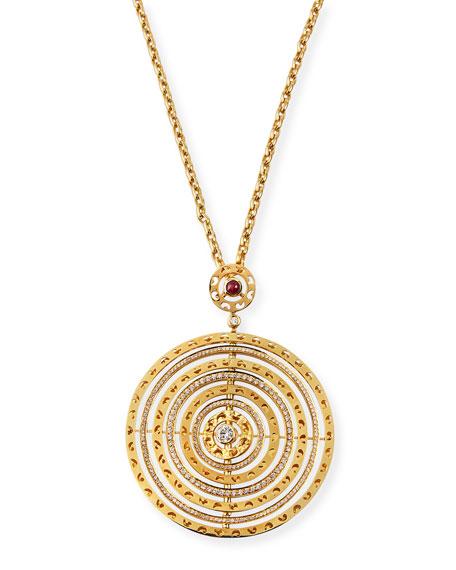Marco Dal Maso AMAIA 18k Diamond/Red Sapphire Pendant Necklace
