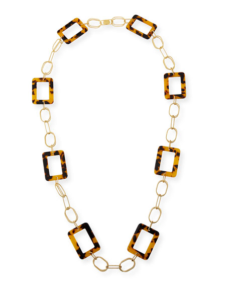 Miseno Animal-Print Resin-Link Necklace