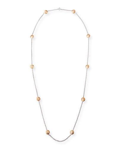 Macri Classica Long Necklace w/ 10 Round Motifs