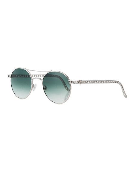 Jack Kelege & Company Limited Edition 14k White Gold Diamond Sunglasses