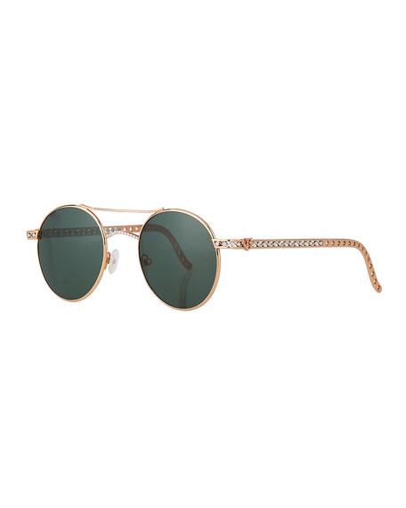 Jack Kelege & Company Limited Edition 14k Rose Gold Diamond Sunglasses