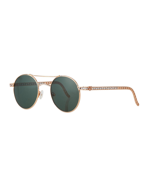 Limited Edition 14k Rose Gold Diamond Sunglasses