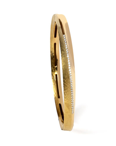 18k Yellow Gold Hula Hoop Diamond-Pave Bangle