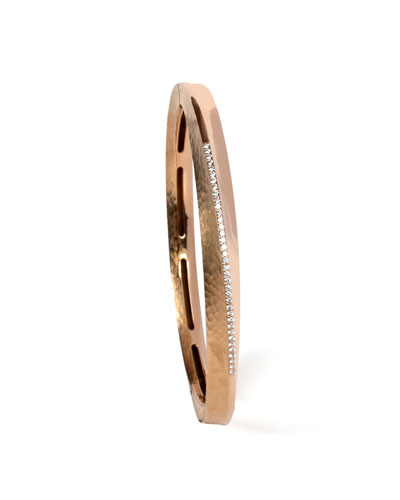 18k Rose Gold Hula Hoop Diamond-Pave Bangle