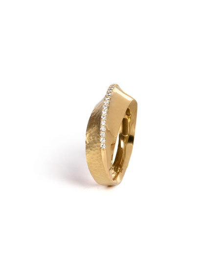 Vendorafa 18k Hula Hoop Diamond-Pave Ring, Size 7.5
