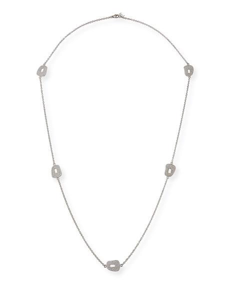 Mattioli 18k White Gold Diamond 5-Puzzle Station Necklace