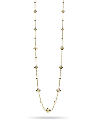 Long Sequence 18k Bead-Station Necklace
