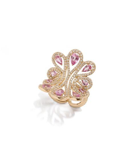 Gismondi 1754 18k Rose Gold Pink Sapphire Statement Ring