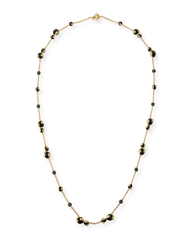 18k Black Onyx & Black Diamond Necklace