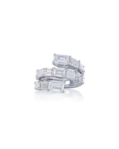 JB Star Platinum Coiled Diamond Ring