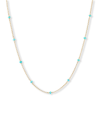 Cable Collectibles Turquoise Necklace, 36