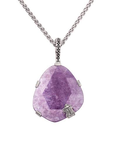 Freeform Lepidolite Pendant Necklace