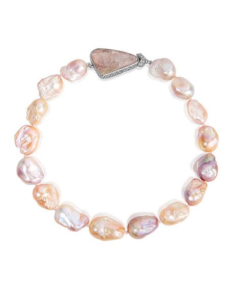 Stephen Dweck Pearl-Strand Quartz Doublet Necklace