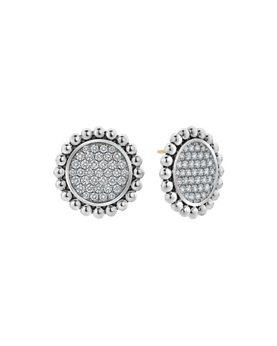Caviar Spark Diamond Circle Earrings