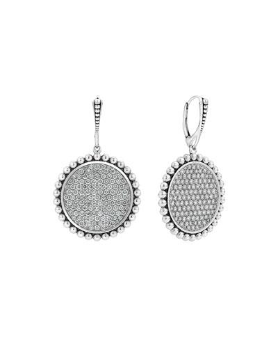Caviar Spark Diamond Circle-Drop Earrings