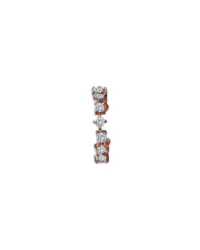 Lightbeam 14k Rose Gold Diamond Ear Cuff, Single