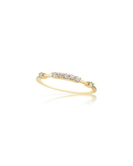 Stevie Wren Petite Raised 14k Diamond Ring, Size 7