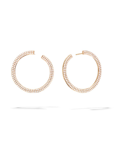 Lana 14k Flawless Diamond Hoop Earrings, 25mm