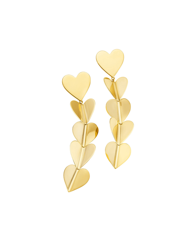 Wings of Love 18k Large Drop Earrings