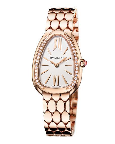 BVLGARI Serpenti Seduttori 18k Rose Gold 33mm Watch w/ Bracelet